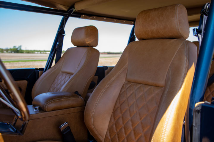 Brown Leather Seats.