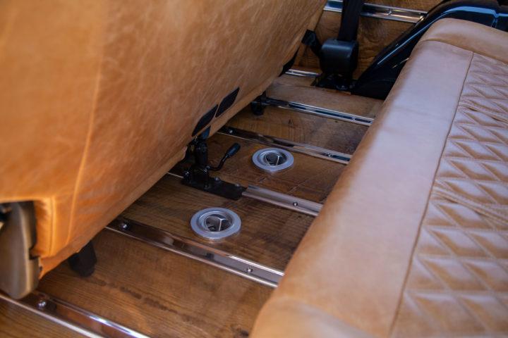 Inside Of Custom Four Door Back Seat.